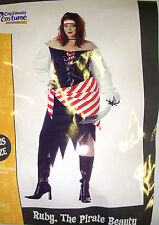 Ruby the Pirate Beauty Dress Headpiece Adult NWT