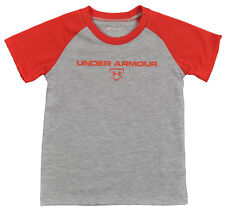 Under Armour Boys Heather Gray & Red Top Size 4 5 6 7