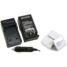 NB-6L Battery & Car Home Charger For Canon PowerShot SD4000 SX500 SX260 IS S95