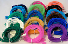 4 SILICONE RUBBER NECKLACE SNAP CLASP STRETCH PENDANT CORDS 16""