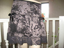 Black,Grey Tie dyed Lace Frilly Festival Mini Skirt,Punk,Lolita,Hippy-All sizes