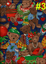Fabric BEAR Quilt Craft Home Baby Upholstery Cotton Animal Sew Doll Material BTY