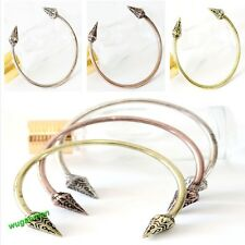 New European Style Punk Rock Arrow Spike Rivet Shape Cuff Bangle Bracelet