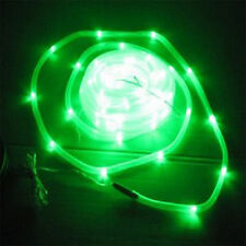 Green 12M Solar Power Rope PVC Tube Light 100 LED String Fairy Xmas Garden decor
