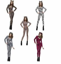 6-14 ANIMAL PRINT BODYSUITS BODY STOCKINGS BODYSTOCKING  CATSUIT LADIES SEXY