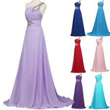 2015 One Shoulder Bridesmaid Party Gown Prom Evening cocktail Formal Long Dress