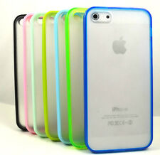 TPU Silicone Cell Phone Case Soft Color Crystal Skin Cover for apple iPhone 5 5G