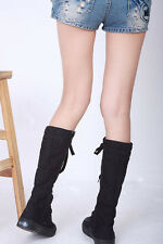 TER New Canvas Sneakers Flat Tall Womens Platform Shoes Knee High Boots YSH-0119