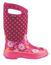Bogs Kids Classic Flower Dot Cherry Winter Boots Youth Sizes 13-5