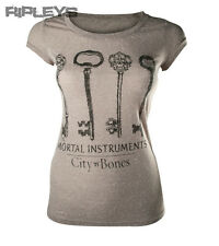 Official Skinny T Shirt The Mortal Instruments GREY KEYS City of Bones All Sizes