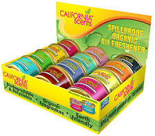 12 x CALIFORNIA SCENTS ORGANIC SPILLPROOF AIR FRESHENER GENUINE CAR HOME OFFICE