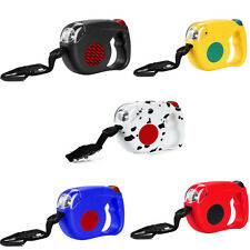 15ft Automatic Outdoor Retractable Dog Leash Pet Puppy Collar With Bright Light