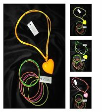 Fancy Dress Necklace and Bangles - 80s Fancy Dress Accessories Complete outfit