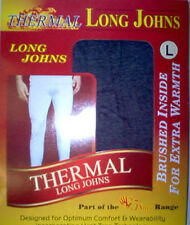Mens thermal long johns, WHITE warm winter underwear