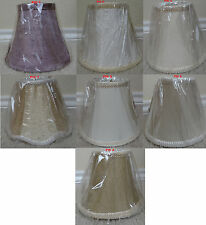 "NEW Mini SILK Bell 6"" wide x 5"" tall bell Chandelier Lamp shade-choose"