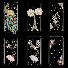 Crystal Handmade Clear Bling Back Case Cover For Samsung Galaxy S4 mini i9190