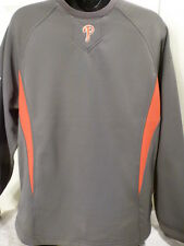03BB-Y BOYS PHILADELPHIA PHILLIES Therma Base Jersey Pullover GRAY/RED