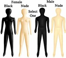 CHOOSE Adult Male / Female Nude / Black Inflatable Blow Up Costume Mannequin