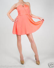 Naven Bombshell Circle Skirt Dress in Neon Coral