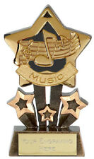 "MUSIC STAR TROPHY 4,25 ""Gratuito Incisione Oro, Argento o Bronzo 1st 2nd 3rd NUOVO"