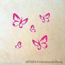5 Wandtatoo Butterfly Schmetterlinge im Set - Wandtattoo Schmetterling Set S