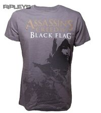 Official T Shirt ASSASSINS CREED IV 4 Kenway STENCIL Grey All Sizes