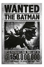 Batman Arkham Origins Wanted Poster New - Laminated Available