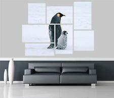 Penguin and her cub Self Adhesive Wall Picture Poster Not Canvas AN