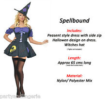 SEXY Purple Witch Girl Fancy Dress Costume Outfit HALLOWEEN PARTY