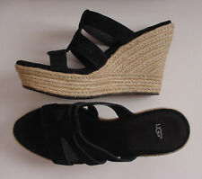 NEW UGG Australia Tawnie Wedge Slip On Sandal Black 100404 Women Sz 10