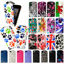 FOR APPLE IPHONE 4 4S 4G PRINTED LEATHER MAGNETIC FLIP CASE COVER+2 FREE GUARDS