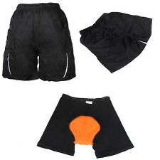 Black Leisure Shorts + Gel 3D Padded Cycling Underwear Loose Bicycle MTB Pants
