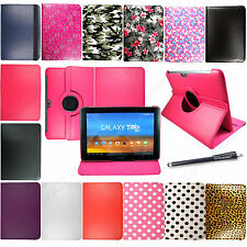 FOR SAMSUNG GALAXY TAB 3 10.1 P5200 PRINTED LEATHER MAGNETIC CASE COVER + STYLUS