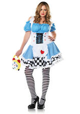PLUS SIZE Sexy Alice in Wonderland Dress Outfit Women's Adult Halloween Costume