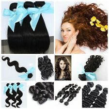 3 bundles 100% Virgin Remy 5A Malaysian Hair Extension Natural Color Thick End