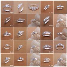 Mix Hot Styles Silver Rhinestone/Crystal Wedding Ring Engagement Ring US Size 8