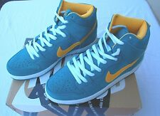 2013 NIB NIKE SB DUNK HIGH PRO MEN'S SHOES $95 tropical teal/university gold