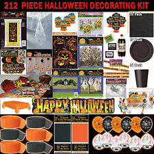 Halloween Party House and Garden Decorating Kit 212 Piece RRP £74.95
