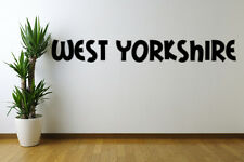 West Yorkshire text Removable Wall Art Decal