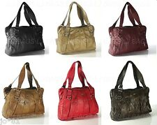 NEW REAL LEATHER LADIES TOTE VINTAGE SHOULDER BAG PURSE HANDBAG