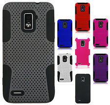 Boost Mobile Warp 4G ZTE N9510 MESH Hybrid Silicone Rubber Skin Case Phone Cover