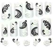 3D NAIL SEAL ART SPARKY LACE GEM PATTERN NAIL DECAL STICKER FLORAL HEART SKULL