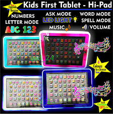 LED Tablet -First Year Kids PAD TAB Educational Toy Fun Xmas Gift for Girls Boys