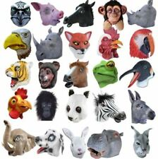 Full Head Rubber Latex Animal Zoo masks safari fancy dress costume group Party