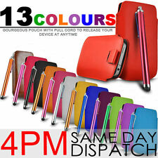 Premium PU Leather Pull Tab Case Cover Skin For Nokia Asha 311 + Stylus Pen S