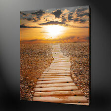 PATH TO SUNSET PREMIUM QUALITY CANVAS PRINT PICTURE WALL ART DESIGN FREE UK P&P