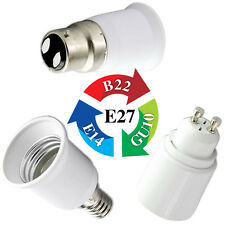 B22/E14/E27/GU10 Base Socket Adapter Converter Holder For LED Light Lamp Bulbs