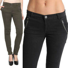 MOGAN Ankle Zip Twill Skinny Jeans with Chic Trouser Slant Pocket