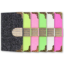 Leather Flip Bling Diamond Card Slot Pouch Wallet Case Cover For iPhone 4G 4S