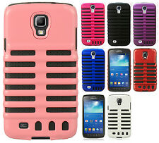 For Samsung Galaxy S4 Rubber Hybrid SKELETON Hard Silicone Phone Case Cover